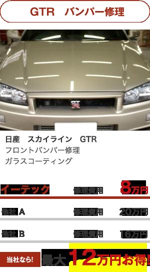 GTR バンパー修理